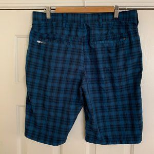 Hurley Shorts - Hurley With Nike Dri-Fit Mens Plaid Shorts Size 32